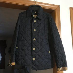 Burberry Women's Quilted Jacket S/P  Navy